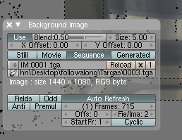 Blender Background Image Settings