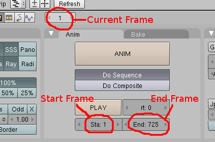 Blender Frame Settings